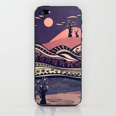 Psychedelic mountains (colour option) iPhone & iPod Skin