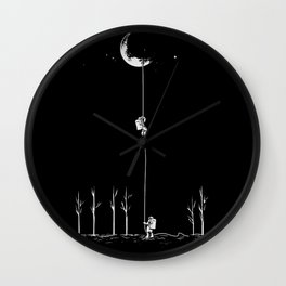 Down From Moon Wall Clock