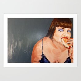 Self Portrait with Jelly Donut Art Print