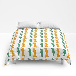 flag of ivory coast-africa,ivorian,ivoirian,cote d'ivoire,ivorien,abidjan,yamoussokro Comforters