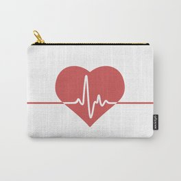 Heart with Cardiogram Carry-All Pouch