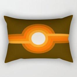 Golden Sunspot Rectangular Pillow