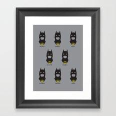 Men of Bats Framed Art Print