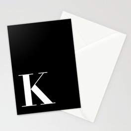 Initial K Stationery Cards