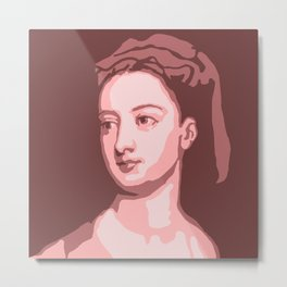 Lady Mary Wortley Montagu Metal Print