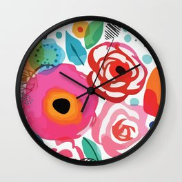 Abstract Floret Wall Clock