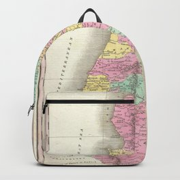 Old 1827 Historic State of Palestine Map Backpack