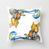 bow Throw Pillows featuring bow by cynamon