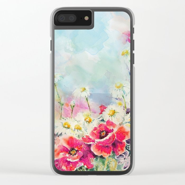 Poppies 07 Clear iPhone Case