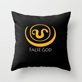 False God. Inspired by Stargate SG1 - The symbol of Apophis as worn by Teal'c Throw Pillow