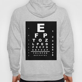 Inverted Eye Test Chart Hoody