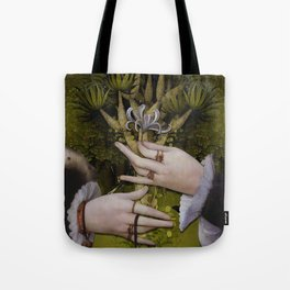 """""""The hands of Bosch and the Spring"""" Tote Bag"""