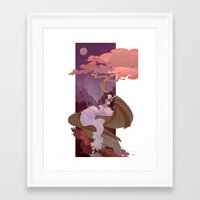 snow white Framed Art Prints featuring Snow White by Ann Marcellino