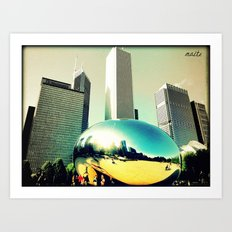 A day at Millenium Park Art Print