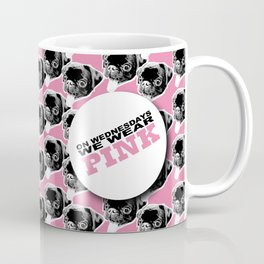 PUG SUKI - WE WEAR PINK PATTERN Coffee Mug