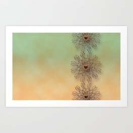Copper edging1 Art Print