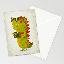 Dino touristo (olive) Stationery Cards