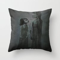 happiness Throw Pillows featuring happiness by meme