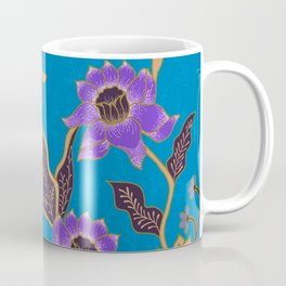 Blue Batik Pattern Coffee Mug
