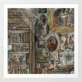 A Wizard's Study Art Print