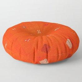 N6 | Vintage Orange Anthropologie Moroccan Artwork. Floor Pillow