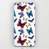 butterflies iPhone & iPod Skins featuring Butterflies by Katerina Izotova