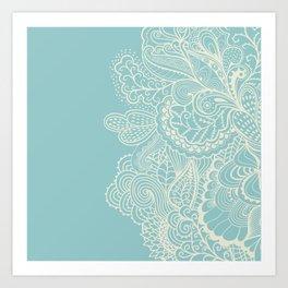 Abstract Nature In Aqua Art Print