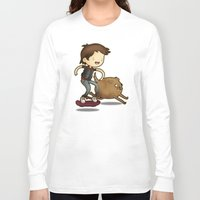 back to the future Long Sleeve T-shirts featuring Back to the Future by Unihorse