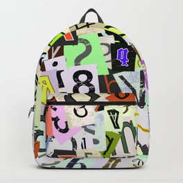 Funky Letters Backpack