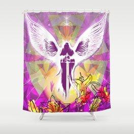 Hyper Angel Shower Curtain