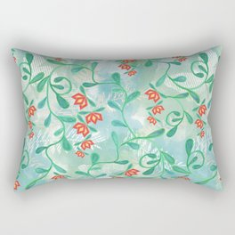 Floral pattern. 4 Rectangular Pillow