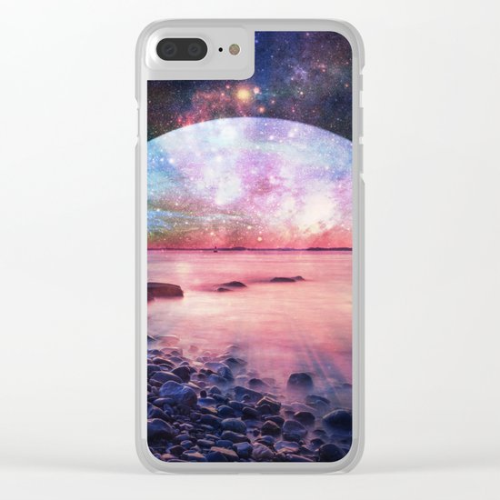 Mystic Lake : Fantasy Moon Landscape Clear iPhone Case
