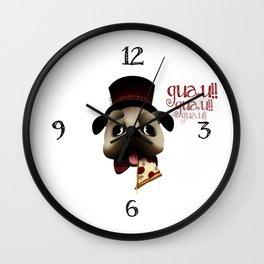 Mr. Puggy Wall Clock
