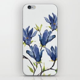 Blue Flowers 3 iPhone Skin