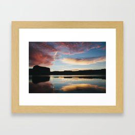 reflection. Framed Art Print