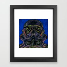 dark stormtrooper with 4 eyes Framed Art Print