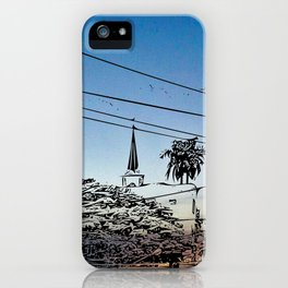 over smal trown the sunset iPhone Case