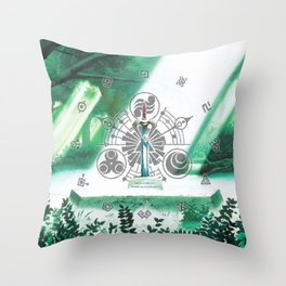 Zelda Sword Shine Throw Pillow