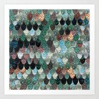 SUMMER MERMAID SEAWEED MIX by Monika Strigel Art Print