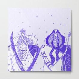 Goddesses of the Garden Table Metal Print