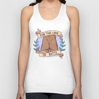 heymonster Tank Tops featuring Butts A by heymonster