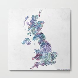 united kingdom map Metal Print
