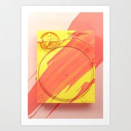 Painted Object Art - Vinyl Player Art Print