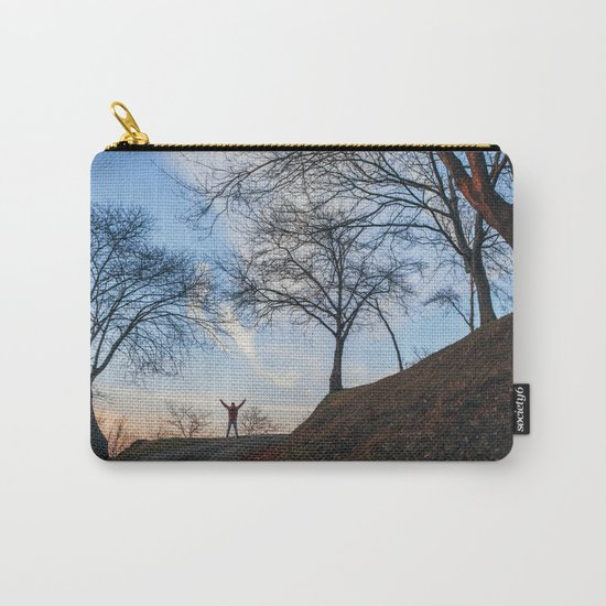 Silhouette at sunset Carry-All Pouch