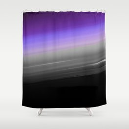 Purple Gray Black Smooth Ombre Shower Curtain