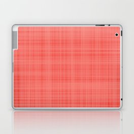 Living Coral Plaid_Tartan Pattern Laptop & iPad Skin