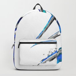 Abstract Blue And White Art - Flowing 5 - Sharon Cummings Backpack