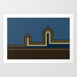 Line Houses - Color Art Print