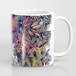Hiding fox rainbow Coffee Mug