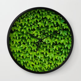 Green Leafy Wall Wall Clock